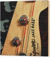 Jazz Bass Headstock Wood Print