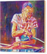 Jazz Beat Wood Print