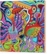 Jazz Birds Wood Print