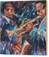Jazz Brothers Wood Print