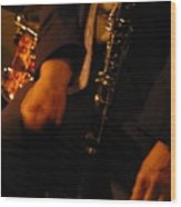 Jazz Clarinet Wood Print