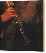 Jazz Clarinet Profile Wood Print