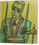 Jazz Drummer Wood Print