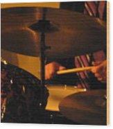 Jazz Drums Wood Print