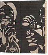 Jazz Duel Wood Print