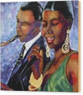 Jazz Duet Wood Print