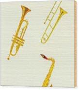 Jazz Fest Wood Print