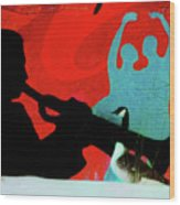 Jazz Goose Wood Print