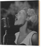 Jazz Great Billie Holiday Wood Print