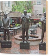 Jazz Greats Al Hirt Fats Domino Pete Fountain Stature New Orleans  Wood Print