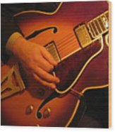 Jazz Guitar  Wood Print