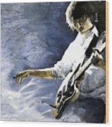 Jazz Guitarist Last Accord Wood Print