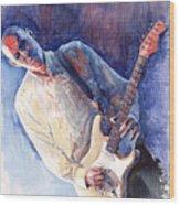 Jazz Guitarist Rene Trossman Wood Print