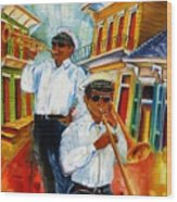 Jazz In The Treme Wood Print
