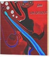 Jazz Kool Kat Kick It Wood Print