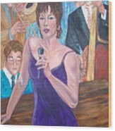 Jazz Lady Wood Print