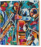 Jazz Magic Wood Print