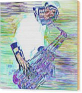 Jazz Melody Wood Print