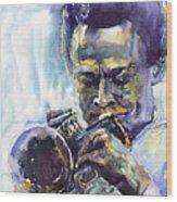 Jazz Miles Davis 10 Wood Print