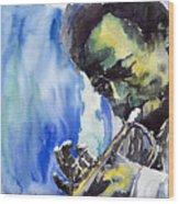 Jazz Miles Davis 5 Wood Print