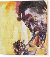 Jazz Miles Davis 6 Wood Print