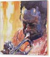 Jazz Miles Davis 8 Wood Print