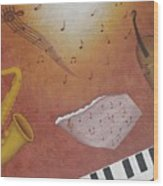 Jazz Music Wood Print