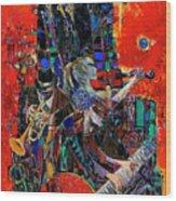 Jazz Orchestra 4 Wood Print