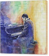 Jazz Pianist Herbie Hancock  Wood Print