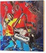 Jazz Piano Wood Print