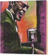 Jazz. Ray Charles.2. Wood Print