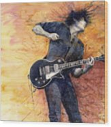 Jazz Rock Guitarist Stone Temple Pilots Wood Print by Yuriy  Shevchuk