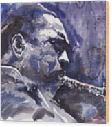 Jazz Saxophonist John Coltrane 01 Wood Print
