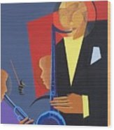 Jazz Sharp Wood Print by Kaaria Mucherera