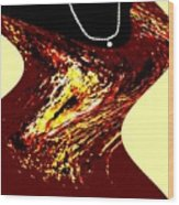 Jazz Singer Wood Print