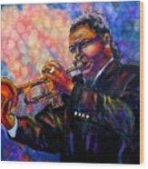 Jazz Solo Wood Print