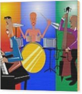 Jazz Trio Wood Print