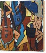 Jazz Trio  Wood Print