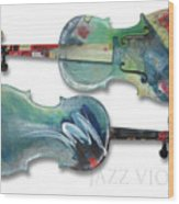 Jazz Violin - Poster Wood Print