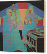 Jazzamatazz Band Wood Print