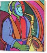 Jazzin #3 Wood Print