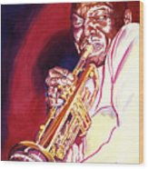 Jazzman Cootie Williams Wood Print by David Lloyd Glover