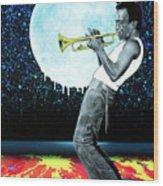 Jazzman Wood Print