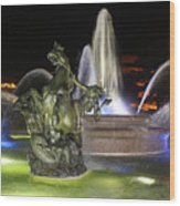 J.c. Nichols Fountain-4981 Wood Print