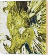 Jd And Leo- Inverted Gold Wood Print