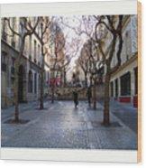 Jean Beauvais Paris Couple Walking Wood Print