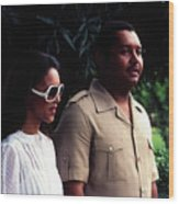 Jean-claude Duvalier And Michelle Bennett Wood Print