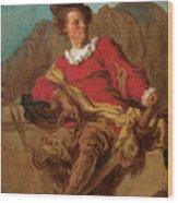 Jean-claude Richard Abbe Of Saint-non Wood Print