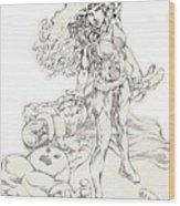 Jean Grey Wood Print