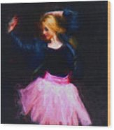 Jean Jacket Ballerina Wood Print